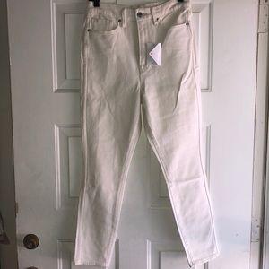 Good American Good Curve Jeans 10/30 Ecru NWT